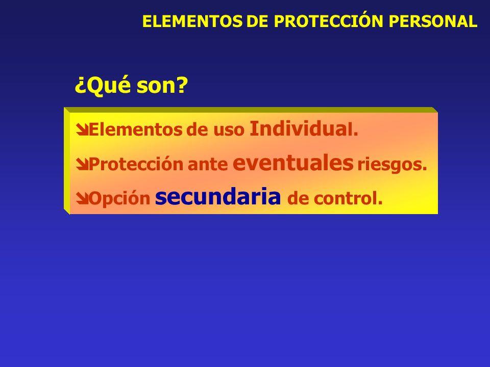 ¿Qué son Elementos de uso Individual.