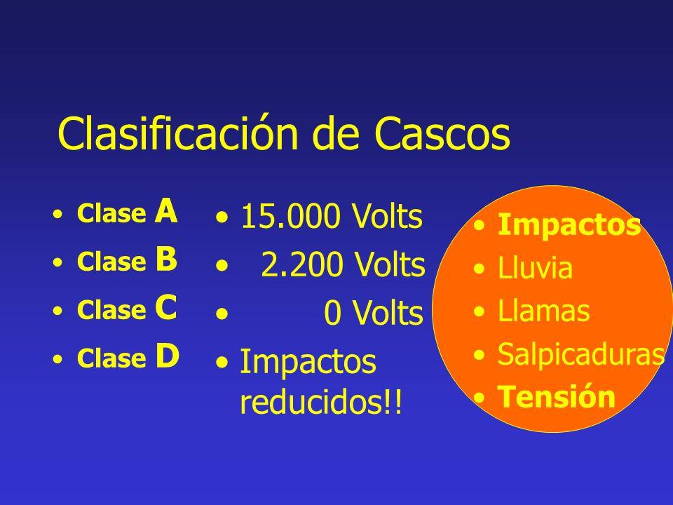 Clasificación de Cascos