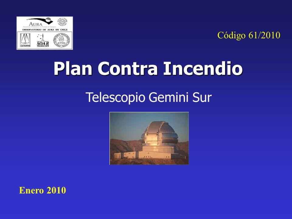 Código 61/2010 Plan Contra Incendio Telescopio Gemini Sur Enero 2010