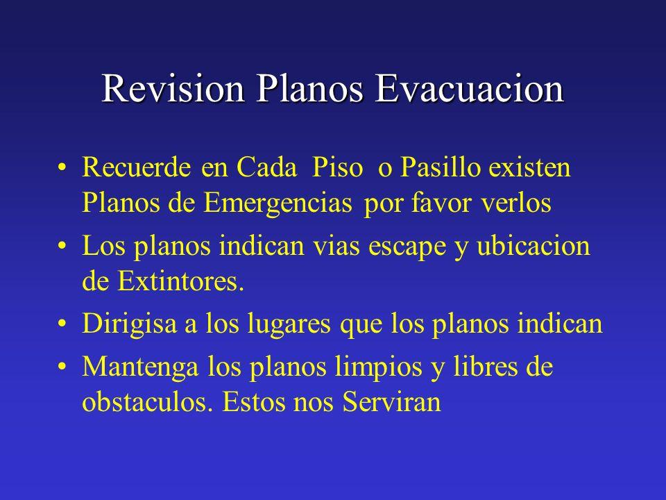 Revision Planos Evacuacion