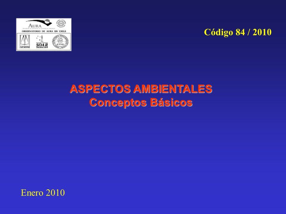 ASPECTOS AMBIENTALES Conceptos Básicos