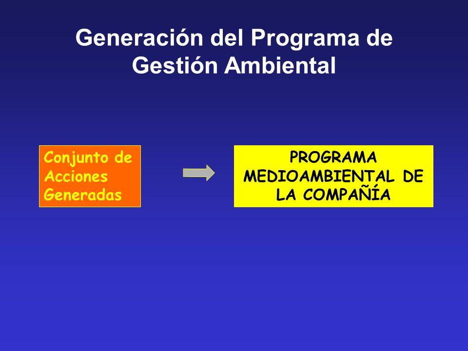 Generación del Programa de Gestión Ambiental