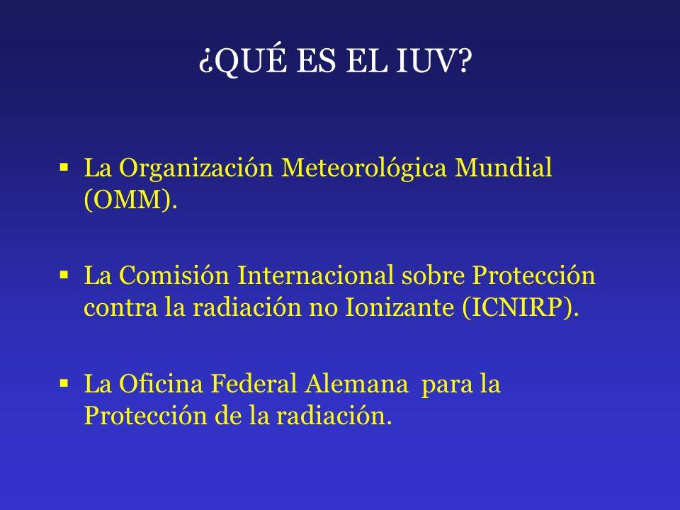 ¿QUÉ ES EL IUV La Organización Meteorológica Mundial (OMM).