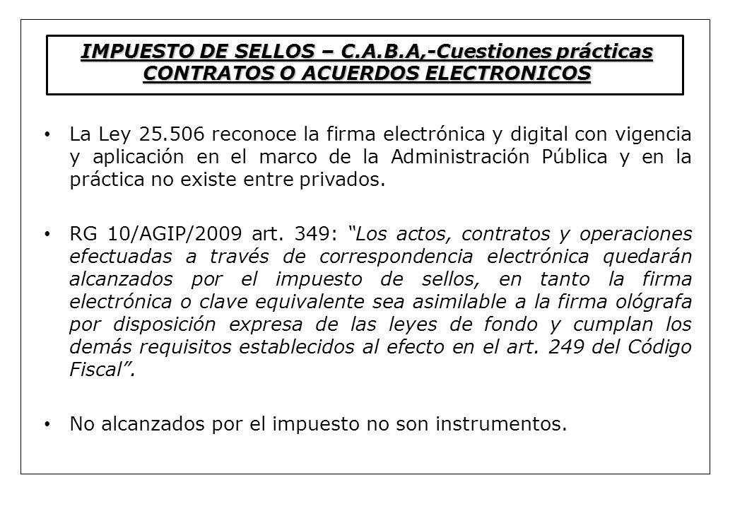 IMPUESTO DE SELLOS – C. A. B
