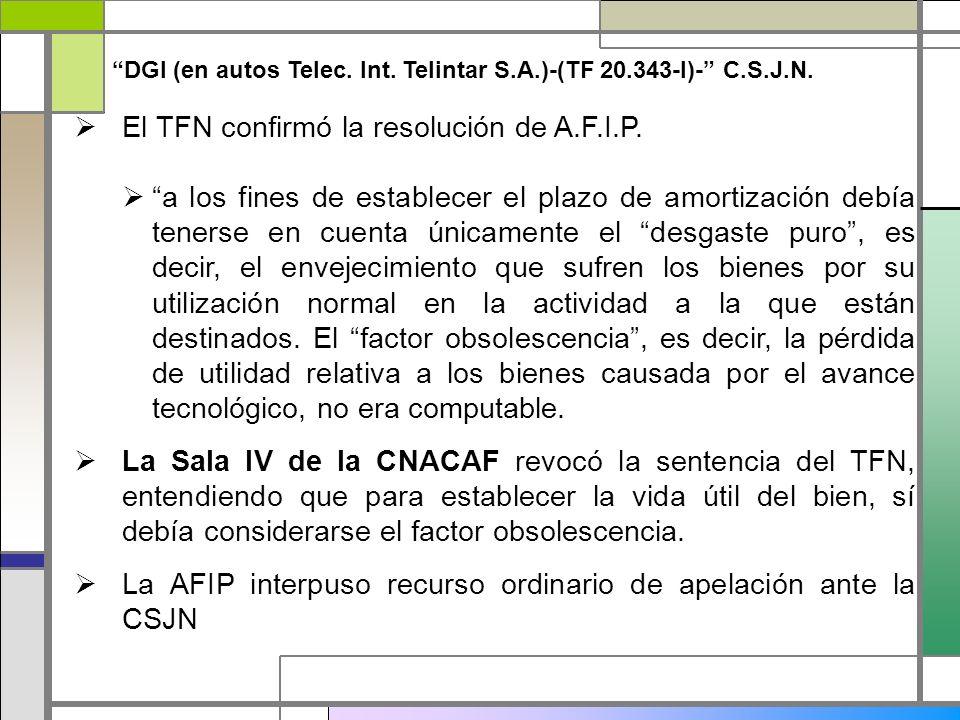El TFN confirmó la resolución de A.F.I.P.