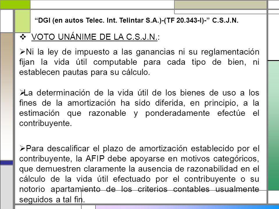 VOTO UNÁNIME DE LA C.S.J.N.: