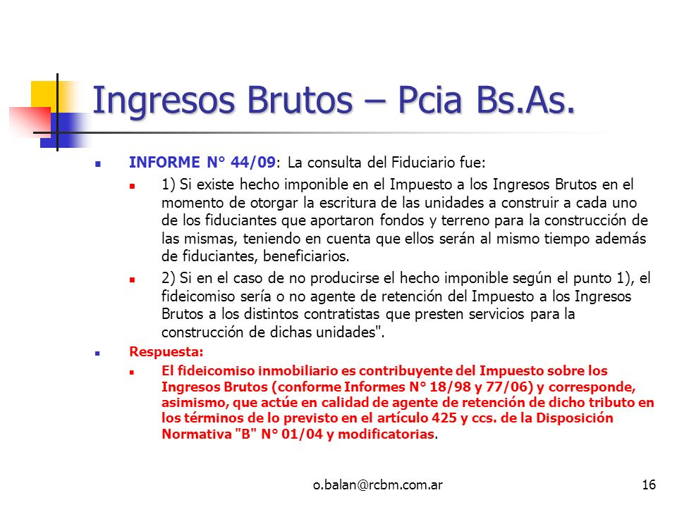 Ingresos Brutos – Pcia Bs.As.