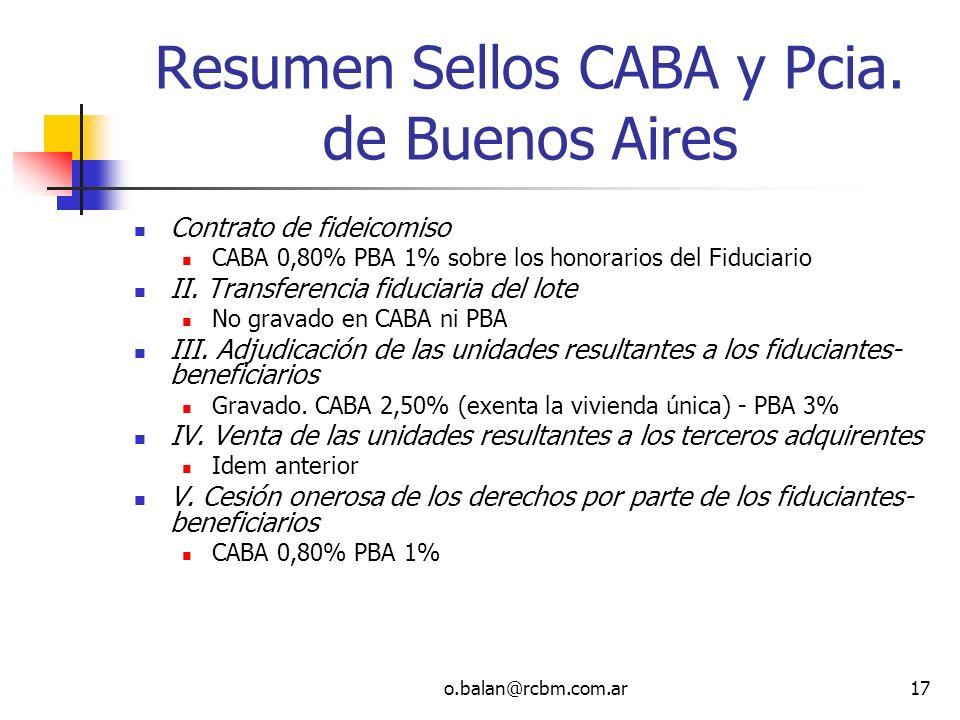 Resumen Sellos CABA y Pcia. de Buenos Aires