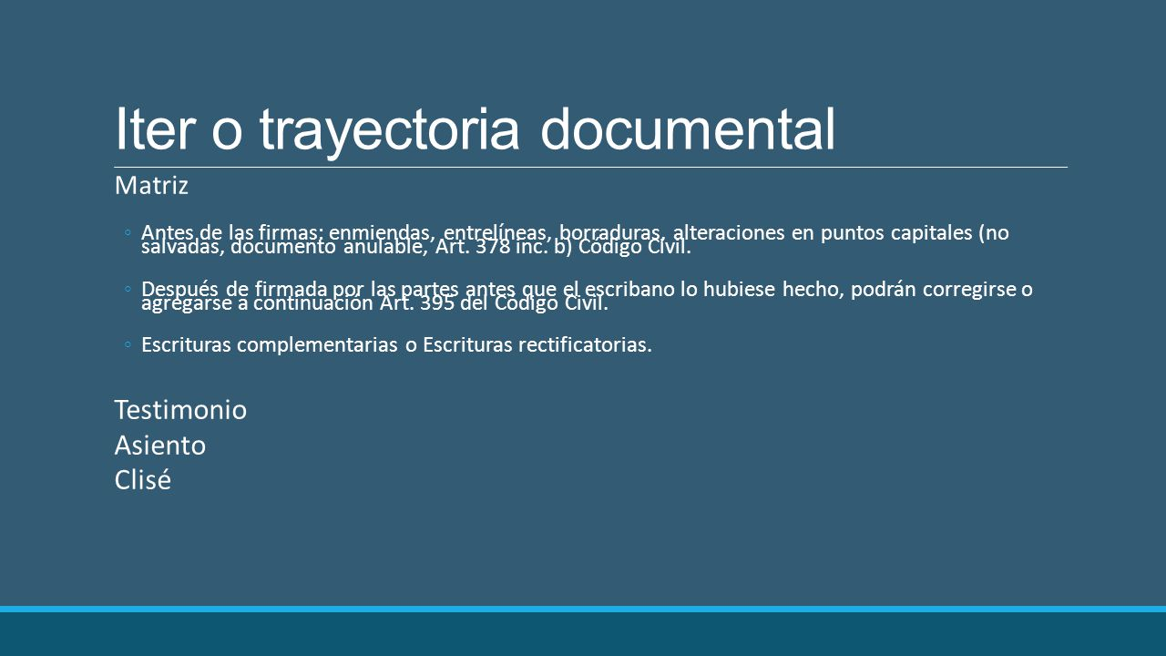 Iter o trayectoria documental