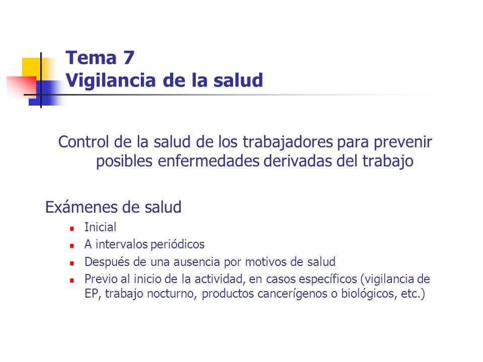 Tema 7 Vigilancia de la salud