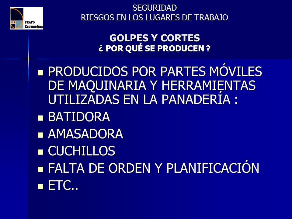 FALTA DE ORDEN Y PLANIFICACIÓN ETC..