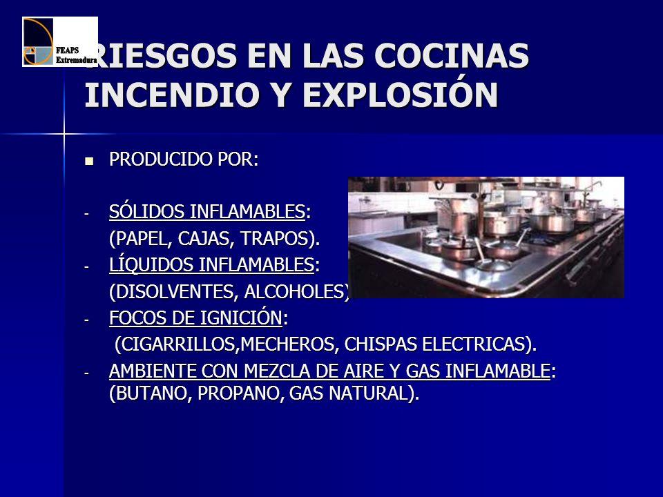 RIESGOS EN LAS COCINAS INCENDIO Y EXPLOSIÓN