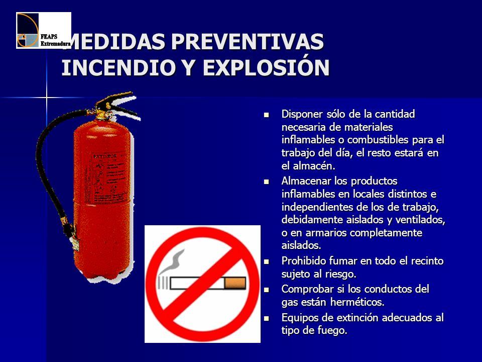 MEDIDAS PREVENTIVAS INCENDIO Y EXPLOSIÓN