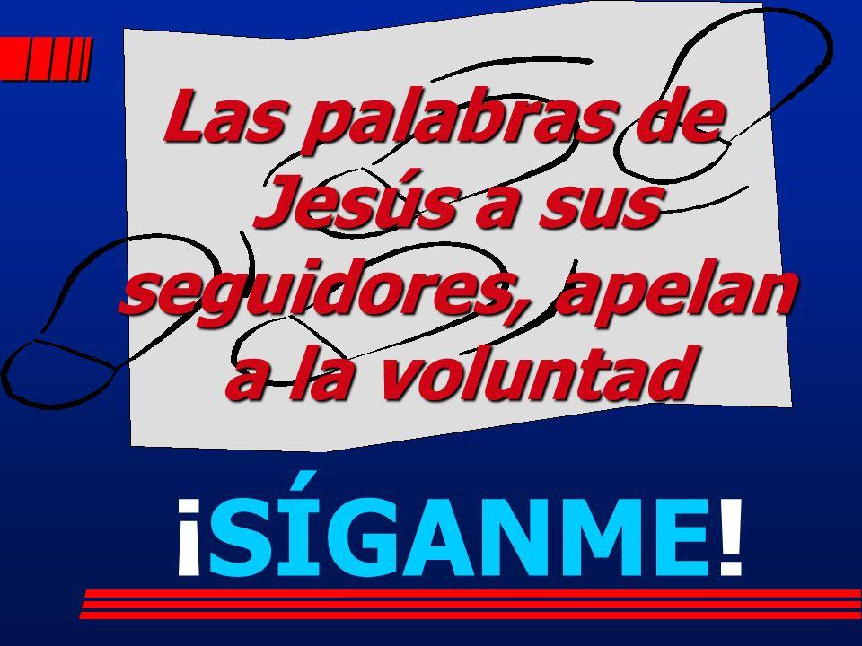 Las palabras de Jesús a sus seguidores, apelan a la voluntad