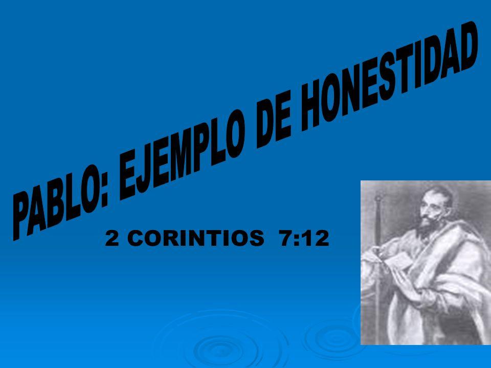 PABLO: EJEMPLO DE HONESTIDAD