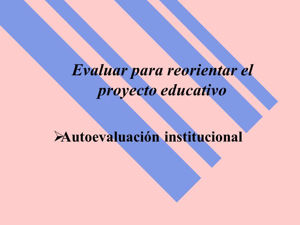 Evaluar para reorientar el proyecto educativo