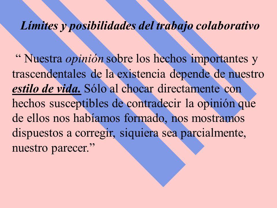 Límites y posibilidades del trabajo colaborativo