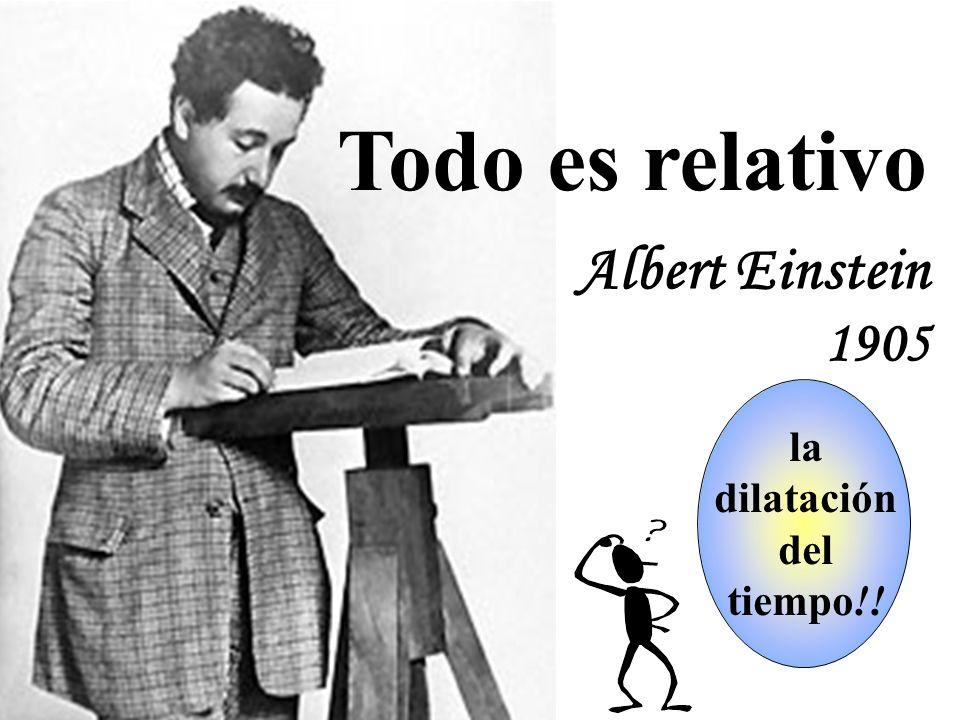 Todo es relativo Albert Einstein 1905 ¿qué significa la esto