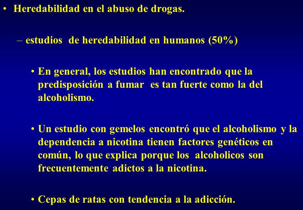Heredabilidad en el abuso de drogas.