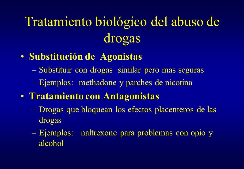 Tratamiento biológico del abuso de drogas