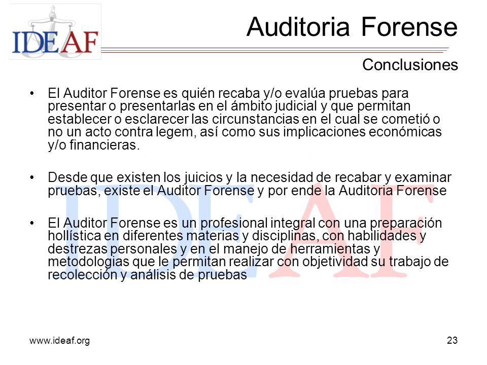 Auditoria Forense Conclusiones