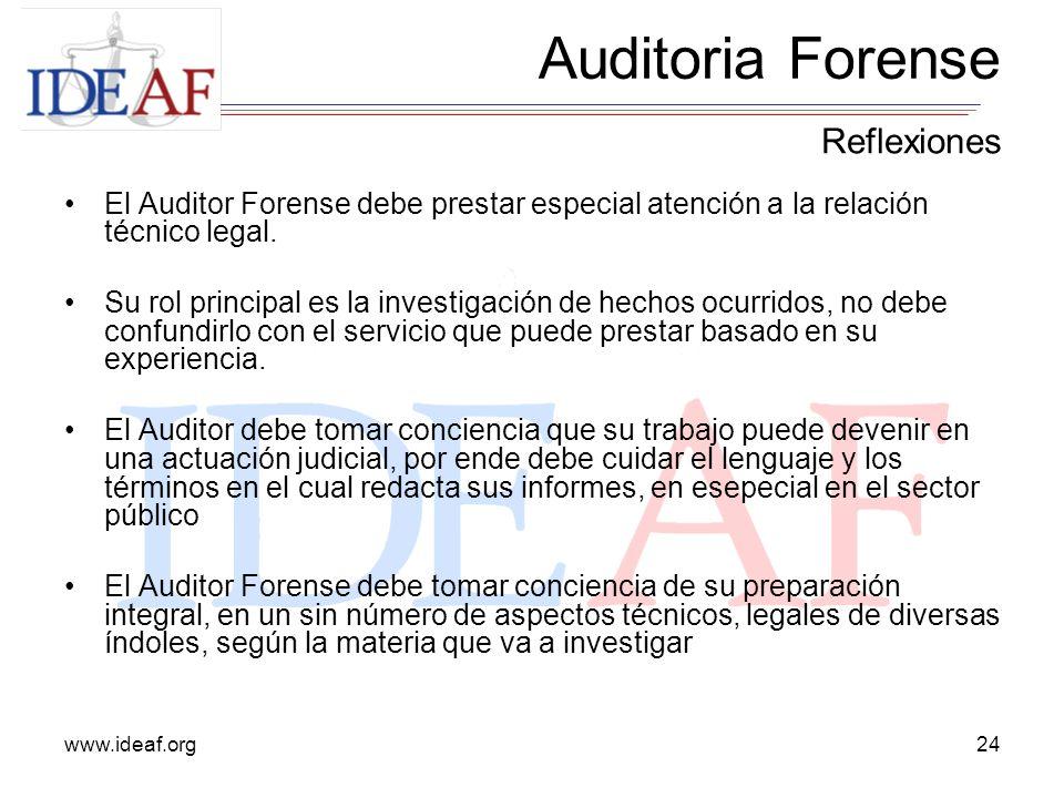 Auditoria Forense Reflexiones