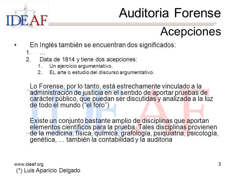 Auditoria Forense Acepciones