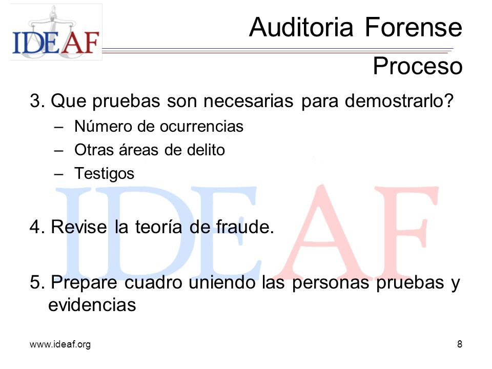 Auditoria Forense Proceso