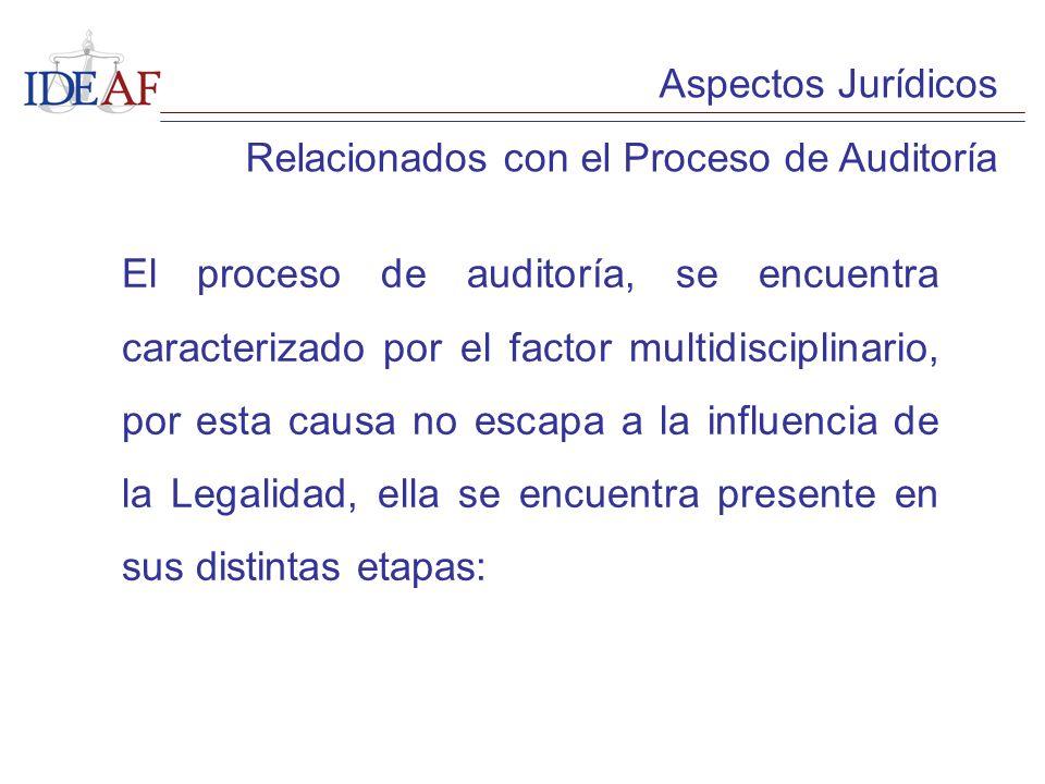 Aspectos Jurídicos Relacionados con el Proceso de Auditoría.