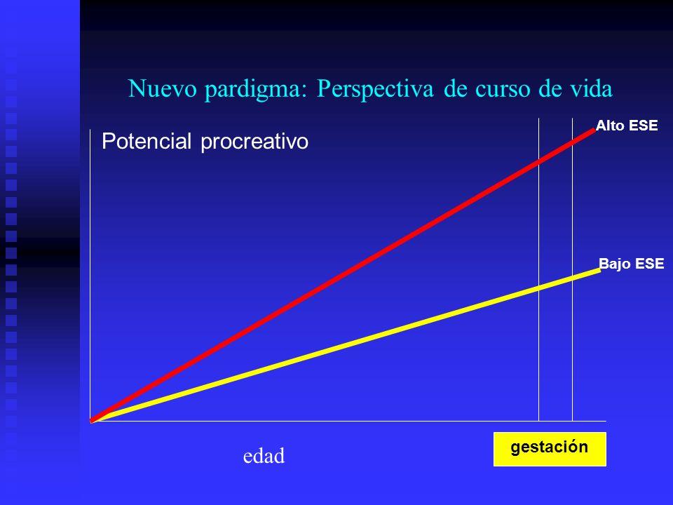 Nuevo pardigma: Perspectiva de curso de vida