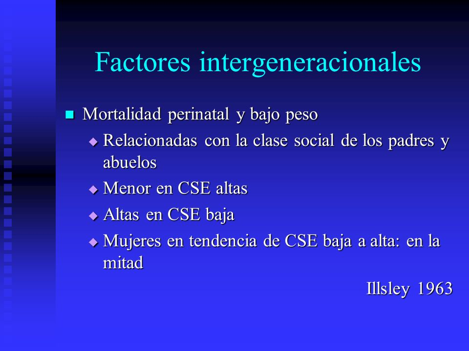Factores intergeneracionales