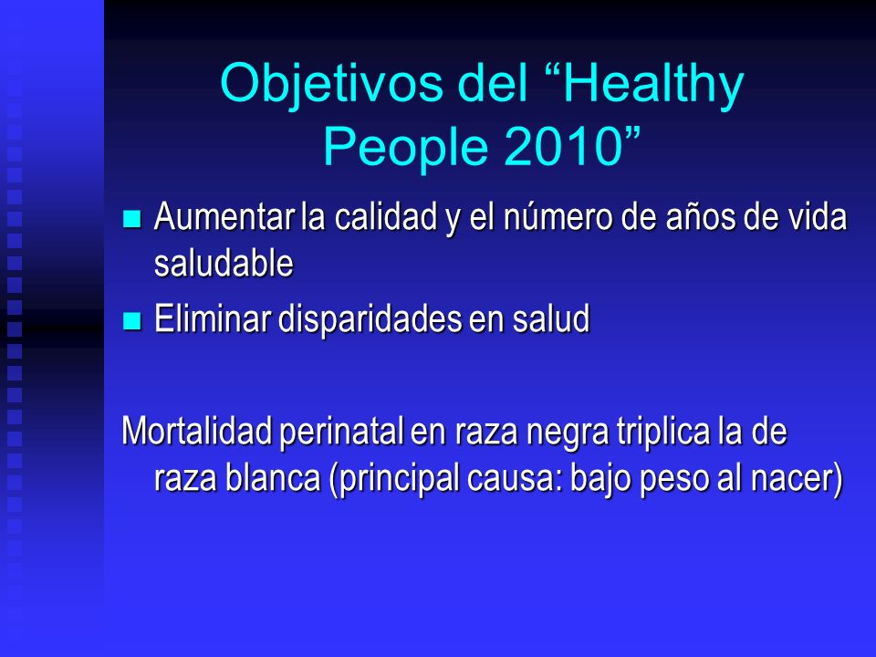 Objetivos del Healthy People 2010