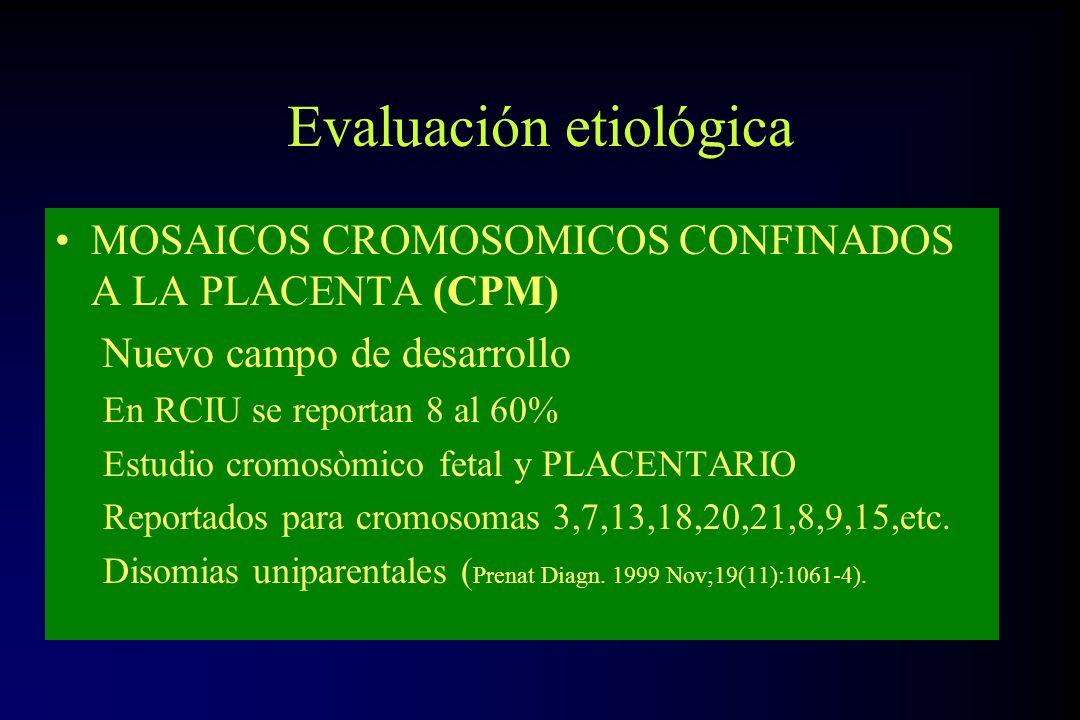 Evaluación etiológica