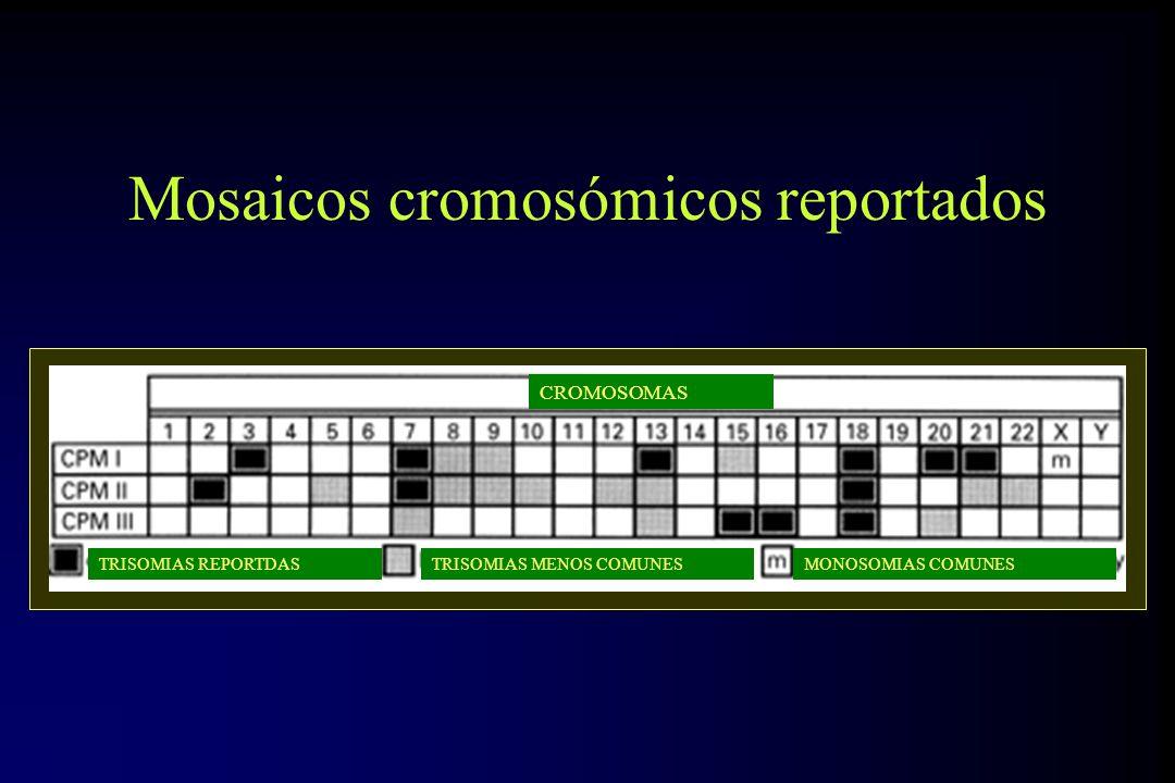 Mosaicos cromosómicos reportados