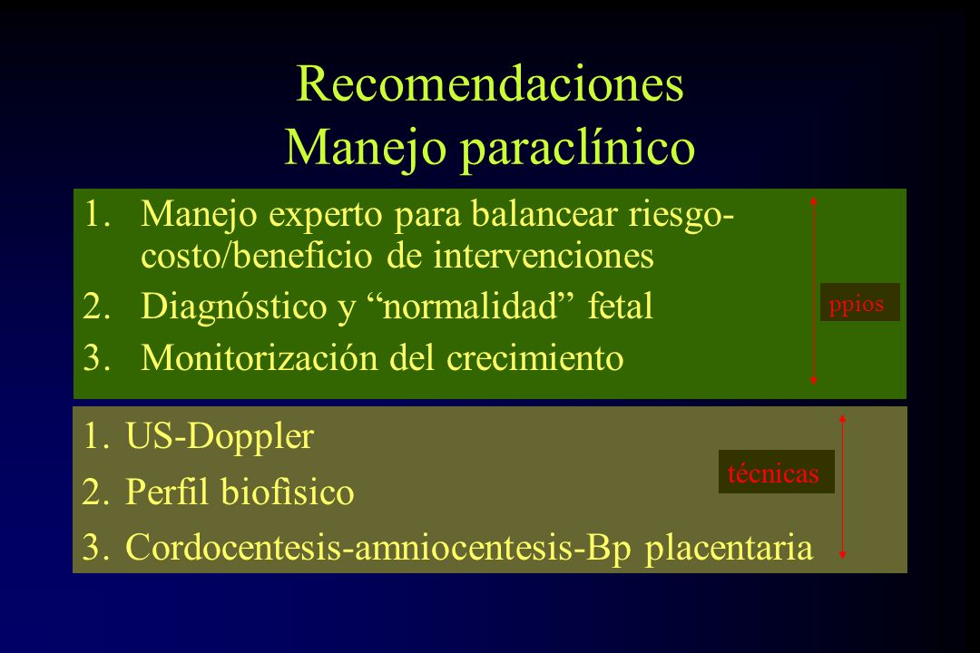 Recomendaciones Manejo paraclínico