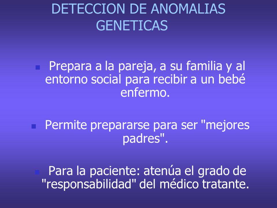 DETECCION DE ANOMALIAS GENETICAS
