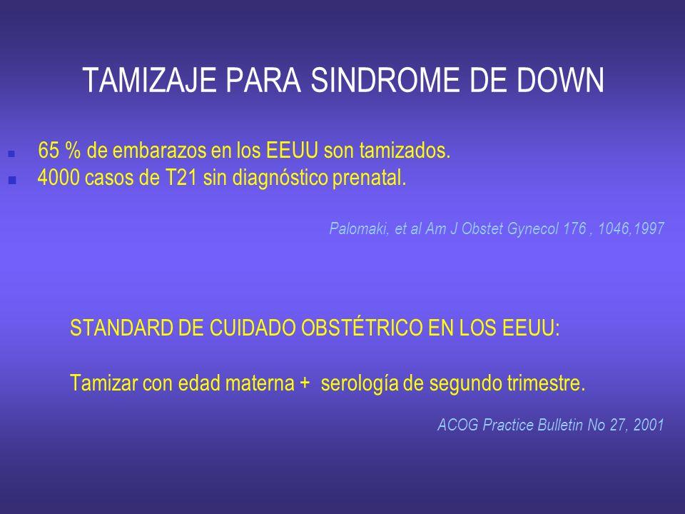 TAMIZAJE PARA SINDROME DE DOWN