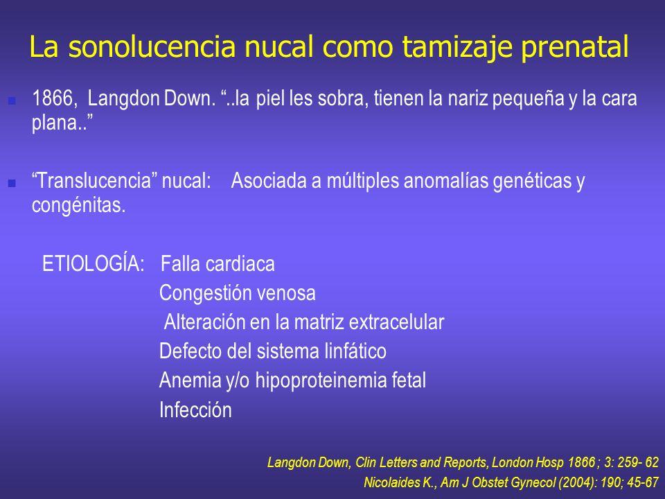 La sonolucencia nucal como tamizaje prenatal
