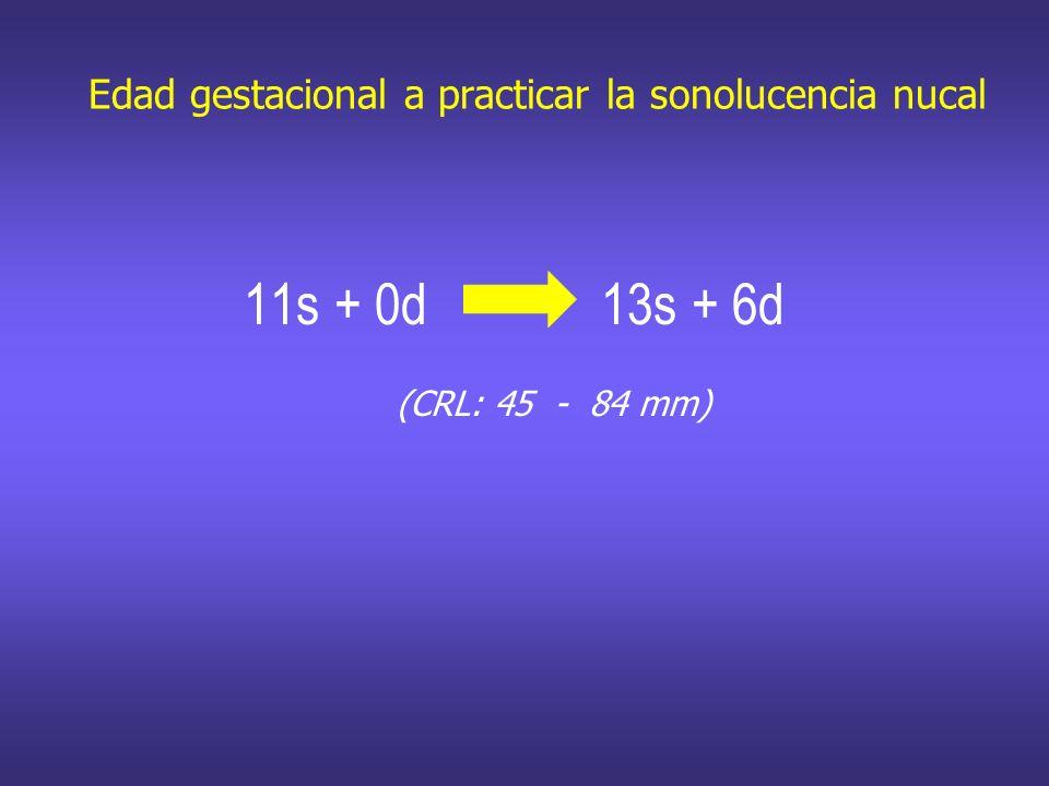 Edad gestacional a practicar la sonolucencia nucal