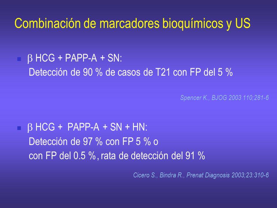 Combinación de marcadores bioquímicos y US