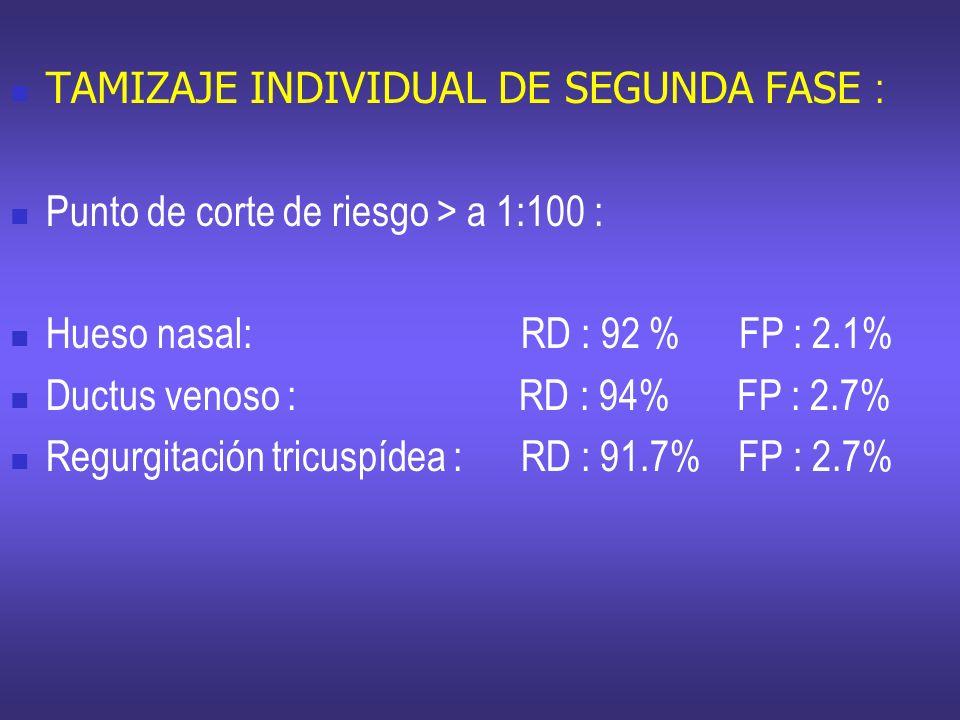 TAMIZAJE INDIVIDUAL DE SEGUNDA FASE :