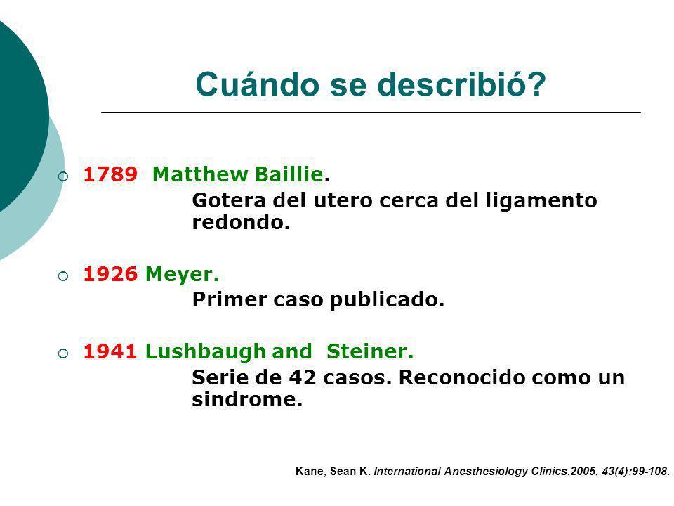 Cuándo se describió 1789 Matthew Baillie.