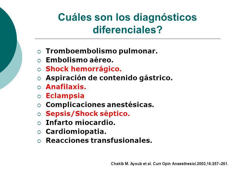 Cuáles son los diagnósticos diferenciales