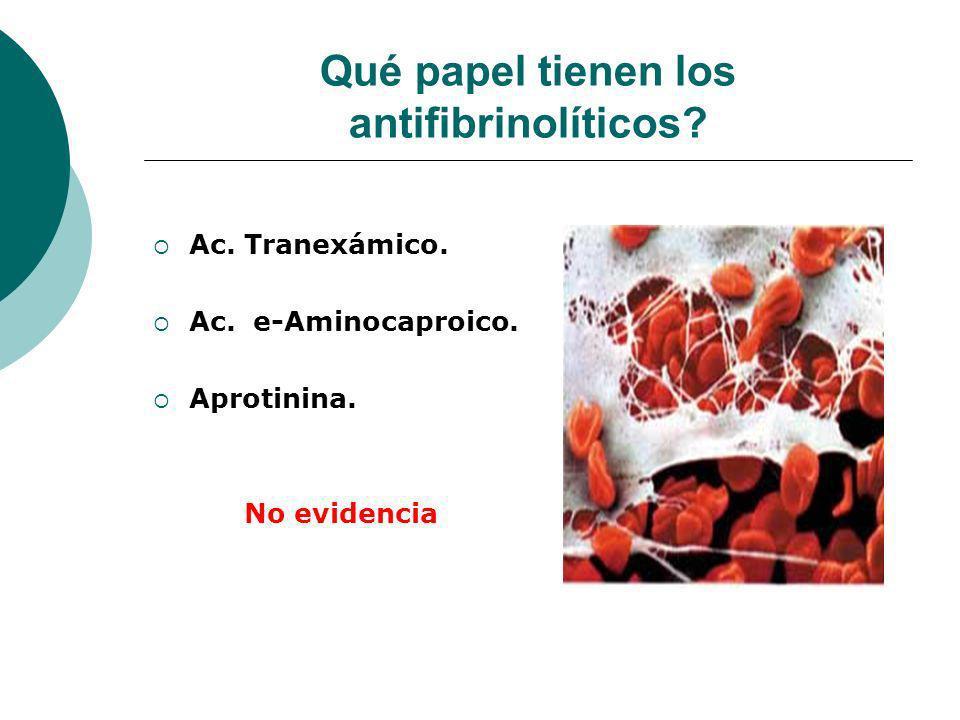 Qué papel tienen los antifibrinolíticos