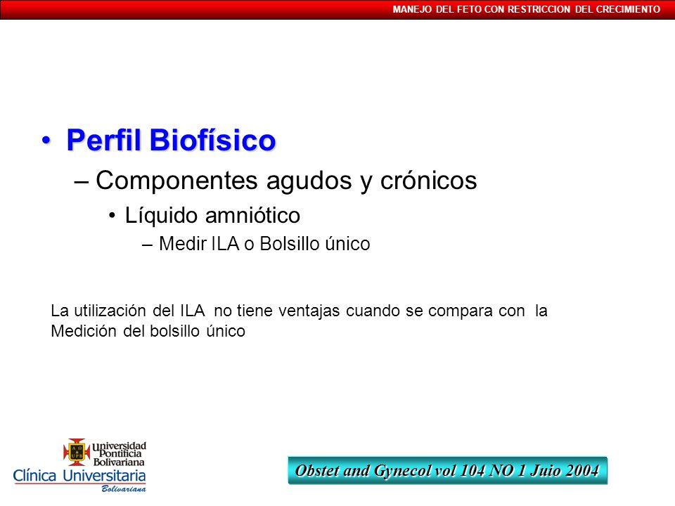 Perfil Biofísico Componentes agudos y crónicos Líquido amniótico