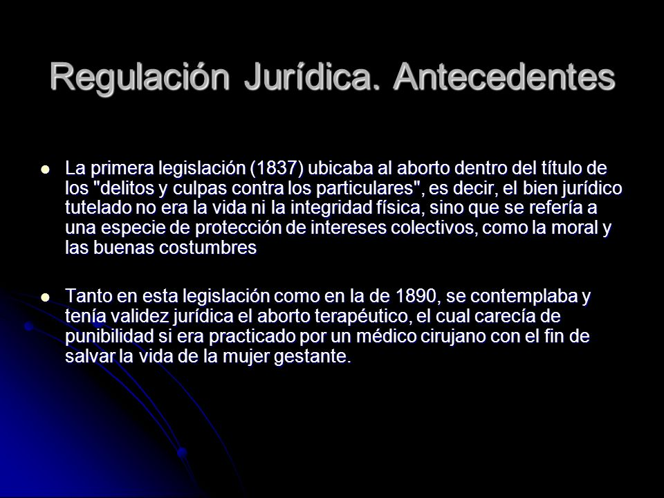 Regulación Jurídica. Antecedentes