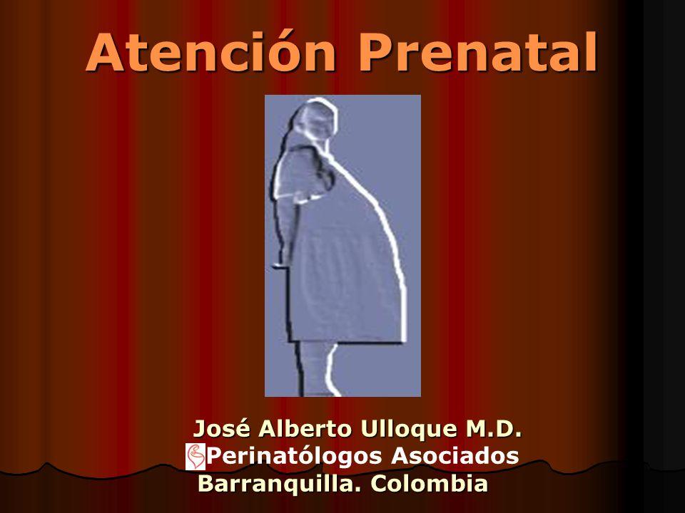 Atención Prenatal José Alberto Ulloque M.D. Perinatólogos Asociados