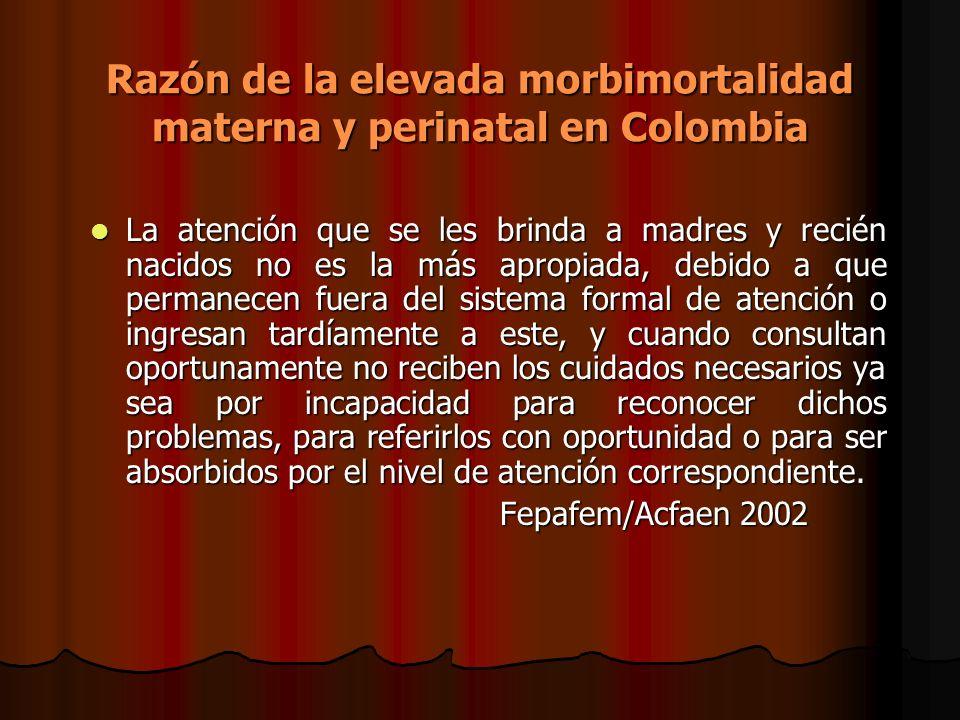 Razón de la elevada morbimortalidad materna y perinatal en Colombia