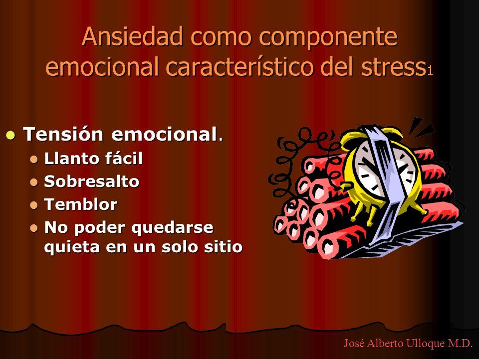 Ansiedad como componente emocional característico del stress1
