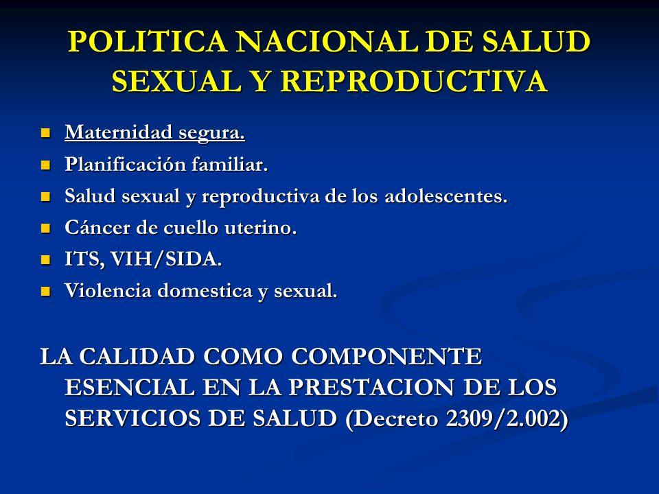 POLITICA NACIONAL DE SALUD SEXUAL Y REPRODUCTIVA